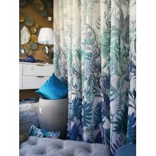 Cortinado RDS Transparencia Estampado Tropical Folhas 3.20m
